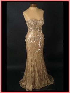 vintage gold mermaid wedding dress...this is gorgeous! K, now I need to have like five more weddings so I can wear all these dresses I like!