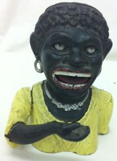 VintageDigger: Vintage 'DINAH' Cast Iron Character Money Box Full...