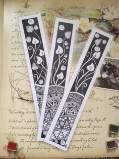 Laminated Zentangle Bookmarks