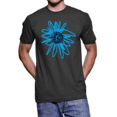 Bloom T-Shirt / Blue Flower / He