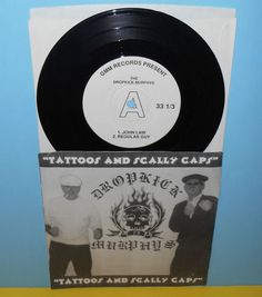 """DROPKICK MURPHYS tattoos and scally caps 7"""" Record w/ Clash cover song GMM 1997 #PUNK"""