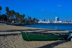 Downtown San Diego as seen from Coronado Island. San Diego California. City vs Nature (Nov 2017)