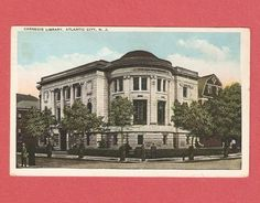 VINTAGE CARNEGIE LIBRARY ATLANTIC CITY NEW JERSEY COLOR POSTCARD