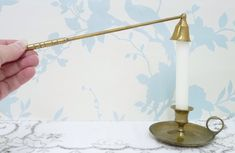 Excited to share the latest addition to my #etsy shop: Brass Candle Snuffer, Candle Bell, Candle Extinguisher, Long Arm, Candle Accessory, Candle Douter, Brassware, Homeware, Cottage Chic
