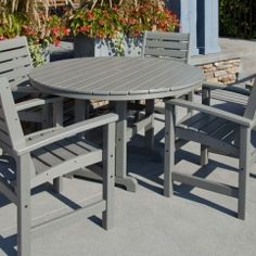 Adirondack Outdoor Table and Chair Sets