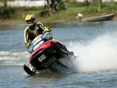 Snowmobile on the lake