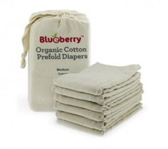 LC Pals - Blueberry Organic Cotton Prefold Diapers, $17.99 (http://www.lcpals.com/blueberry-organic-cotton-prefold-diapers/)