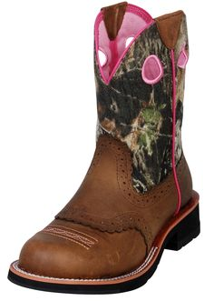 """Womens Fatbaby Cowgirl Round Toe 8"""" Boots   valleyvet.com"""