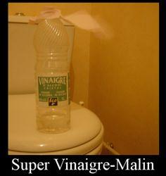 supervinaigre-malin plus fort que les taches incrustées dans le fond des toilettes