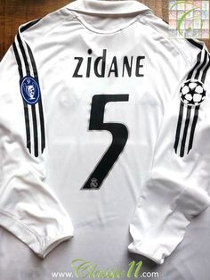 dddb094a9 Relive Zinedine Zidane s 2005 2006 European season with this Vintage Adidas Real  Madrid home long