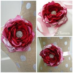 Hey, I found this really awesome Etsy listing at https://www.etsy.com/listing/232370457/red-fabric-flower-wedding-red-flower