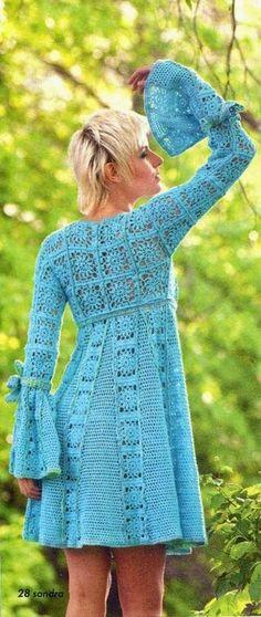 Irish crochet &: Платье из мотивов