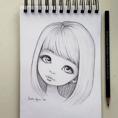 bleistiftzeichnung Minna by Ploopie Art Drawings Sketches Simple, Anime Drawings Sketches, Girly Drawings, Pencil Art Drawings, Cartoon Drawings, Art Sketches, Easy Drawings Of Girls, Pencil Sketches Of Girls, Drawing Faces