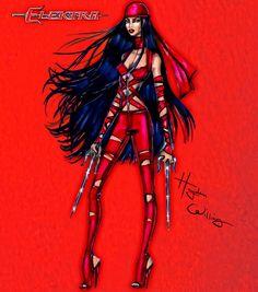 #Marvel Divas by Hayden Williams : Elektra