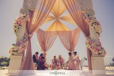 Another shot of that outdoor mandap