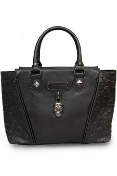 Skull & Flowers Gothic Handbag by Loungefly