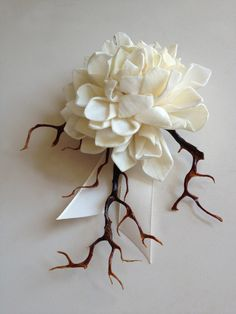 Corsage Boutonniere BroochMadeira Collection by TGambardellaBridal, $15.00 Trigs --but kinda creepy.