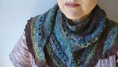 gorgeous handspun shawl by funky knits