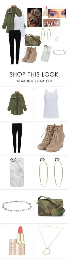 """1000 followers!!!"" by vain-vanny ❤ liked on Polyvore featuring Majestic, Uncommon, Bebe, Yves Saint Laurent and SeeMe"
