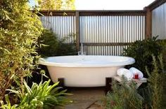 Image result for outdoor bath ideas