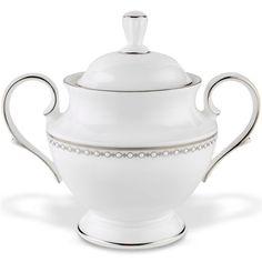 Pearl Platinum Sugar Bowl By Lenox