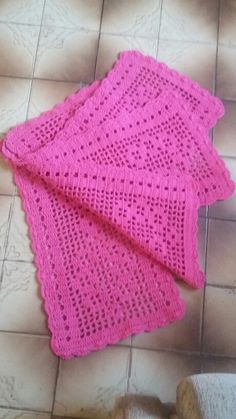4 Tapetes de 60 por 40 cm ( linha de algodão  número 8
