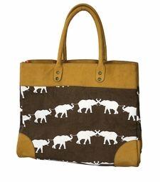 Iomoi elephant walk very large preston bag with orange lining