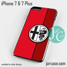 Red Alfa Romeo Logo Phone case for iPhone 7 and 7 Plus