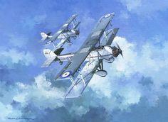 Inter-War Aviation Art - Roger H. Middlebrook - Vickers Vildebeest print