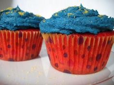 Red Bull Cupcakes, made with actual red bull. May have to try this at the office
