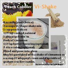Peach Cobbler Vi-Shake  www.lovethechallenge.myvi.net