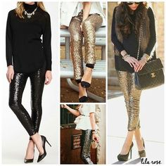 Top Fall Trends: Shine bright baby! Sequin stretch leggings Price $44.00, Free Shipping Options: Small Black, Medium Black, Large Black, Small Gold, Medium Gold, Large Gold  Dazzling! These leggings will be the perfect holiday look that will work the whole season, just add a snuggly sweater cardi to dress them down or a tunic and necklace to dress them up! Stretchy, sure to be a style hit for years to come! *ships in November* ➖➖➖➖➖➖➖➖➖➖➖➖➖➖➖➖➖➖ To purchase, comment SOLD SIZE COLOR EMAIL…