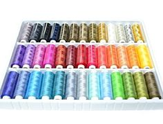 Best Sewing Thread Kit Online Assortment Of Heavy Duty High Quality Colors Spools Set With An Organizer Storage Holder Box Excellent Polyester Threads for Hand Embroidery Or Machine Sewing Grate Gift For Mother Father Kids Adult or Beginner -- Details can be found by clicking on the image.