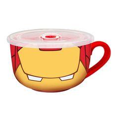 Iron Man Travel Soup Mug - Monogram - Iron Man - Mugs at Entertainment Earth