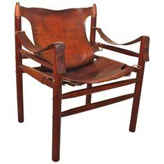 Scandinavian Modern Safari Chair by Arne Norell, Sweden, circa 1964 1