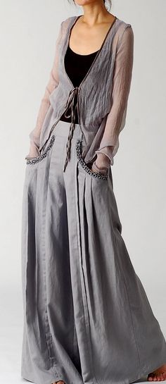 linen oxford bags style trousers