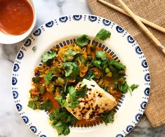 Gluten Free Zucchini Noodles with Roasted Halibut