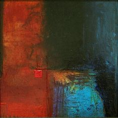<b>Leaving Intact #1</b><br>Acrylic on Board, 8 x 8<br>Available. Extremely high gloss resin finish.