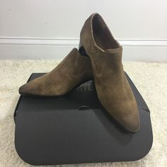 72f0bf5ef172 NEW Frye Women s Eleanor Western Shootie Brown Ankle Boot Oiled Suede Size  6M