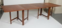 Gate-leg Folding Dining Table | From a unique collection of antique and modern dining room tables at https://www.1stdibs.com/furniture/tables/dining-room-tables/