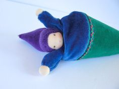 Pop-up puppet  cone puppet peek a boo doll waldorf by fairyshadow