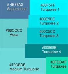 Aqua Blue Color Schemes - Bing images