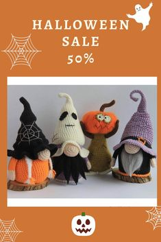 Crochet Pumpkin, Crochet Fall, Holiday Crochet, Crochet Home, Halloween Crochet Patterns, Crochet Toys Patterns, Amigurumi Patterns, Stuffed Toys Patterns, Crochet Christmas Garland