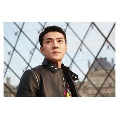 "Sehun - 170308 Louis Vuitton Instagram update: ""Sehun of #EXO at the #LouisVuitton Fall-Winter 2017 Show by @NicolasGhesquiere. Watch the show now at louisvuitton.com Portrait by Thomas Lohr #PFW #LVFW17""    Credit: Louis Vuitton.  DAILYEXO"