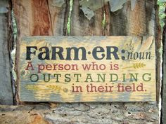 Farmer Sign Farmers Sign Farming Sign Made In by BearlyInMontana, $25.00