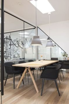 Simple and beautiful conference room | conference room | | meeting room | #meetingspace #design http://www.ironageoffice.com/