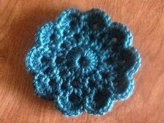 Handmade crochet dark teal coaster by NannnyMcTaitCrochet on Etsy, $8.50