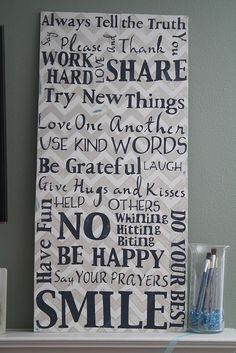 Family Rules...great idea!