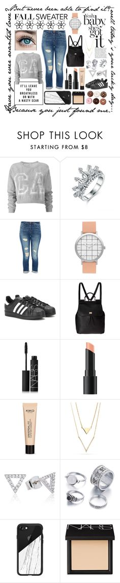 """""""<-To the fair->"""" by rhiannonpsayer ❤ liked on Polyvore featuring Lovisa, J Brand, adidas, Dolce&Gabbana, NARS Cosmetics, Bare Escentuals, Astrid & Miyu and Casetify"""