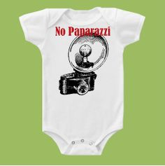 No Paparazzi Original One Piece Baby TShirt or door ChiTownBoutique, $16,00